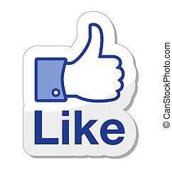 knoop, facebook, informatietechnologie, zoals
