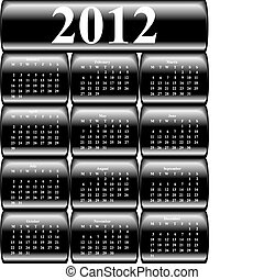 knopen, 2012, vector, kalender