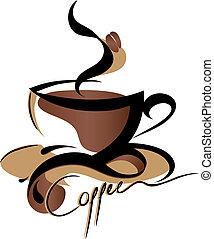 koffie, meldingsbord