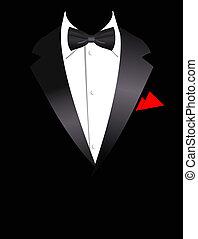 kostuum, illustratie, vector, elegant