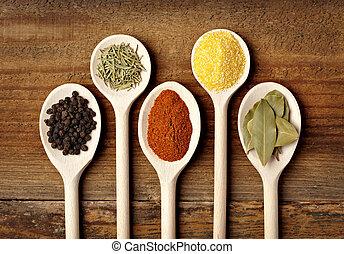 kruiden, voedingsmiddelen, specerij, ingredienten