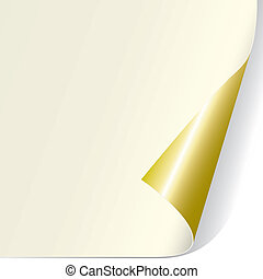 krul, pagina, (vector)