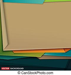 kunst, abstract, papier, ontwerp, kleurrijke