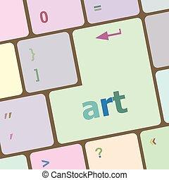 kunst, knoop, illustratie, vector, klee, de computer van het toetsenbord