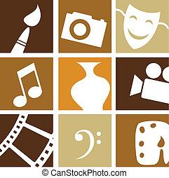 kunsten, creatief, iconen