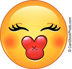 kus, emoticon, vrouwlijk