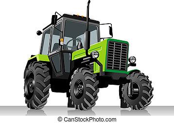 landbouwkundig, vector, tractor