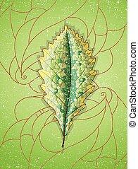 leaf., kleurrijke, herfst