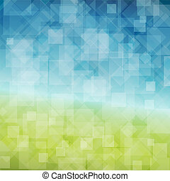 lente, abstract, vector, achtergrond