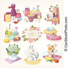 lente, communie, kaart