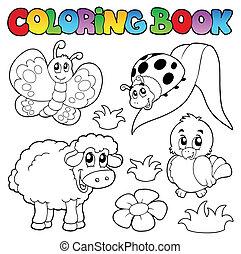 lente, kleuren, dieren, boek
