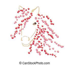 lente, paarde