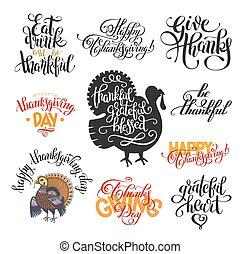 lettering, inscripties, overhandiig stel, dag, collectio, dankzegging