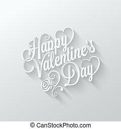 lettering, knippen, ouderwetse , valentines, papier, achtergrond, dag