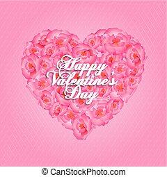 lettering, ouderwetse , groet, valentijn, s, dag, vrolijke