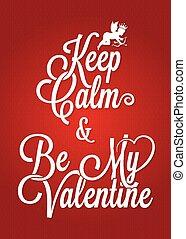 lettering, ouderwetse , valentines, achtergrond, dag, kaart