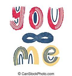 lettering, s, dag, me.., valentijn, u