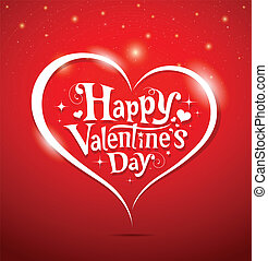 lettering, vrolijke , dag, valentine