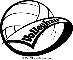 lettertype, volleybal, wimpel