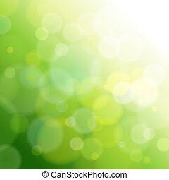 licht, abstract, groene, achtergrond.