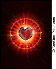 licht, beeld, stralen, dynamisch, hart