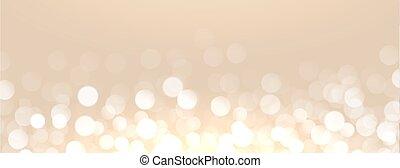 licht, bokeh, effect, gouden achtergrond, aantrekkelijk