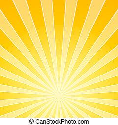 licht, helder, gele, balken