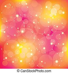 licht, het fonkelen, achtergrond, kleurrijke, sterretjes