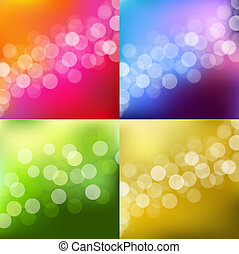 lichten, bokeh, kleuren achtergrond