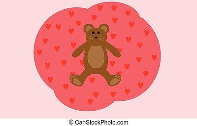 liefde, beer, teddy