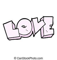 liefde, spotprent, meldingsbord