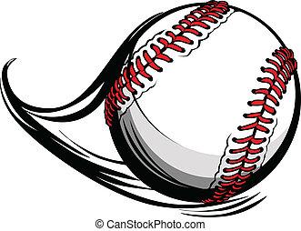 lijnen, illustratie, motie, vector, honkbal, softbal, of, beweging