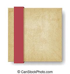 lint, papier, oud, achtergrond, rood
