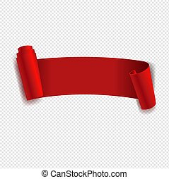 lint, transparant, vrijstaand, achtergrond, rood