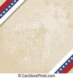 linten, gestreepte , papier, oud, achtergrond