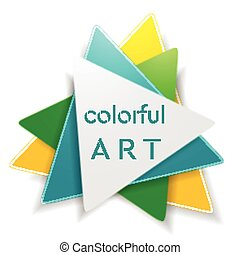 logo, abstract, driehoek, helder, ontwerp