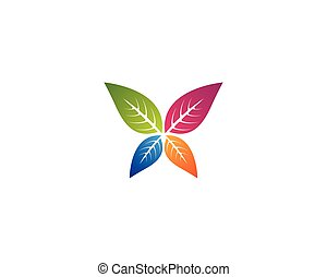 logo, blad, kleurrijke