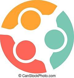 logo, gezin, mensen