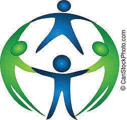 logo, groep, team