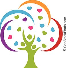 logo, liefde, boompje, mensen