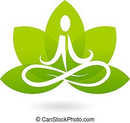 lotus, logo, yoga, /, pictogram