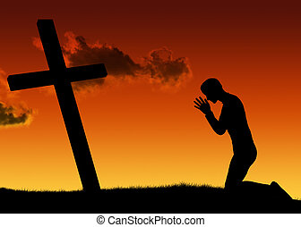 man, gebed