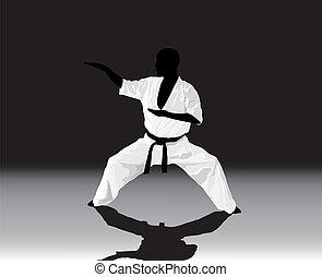 man, karate, verloofd