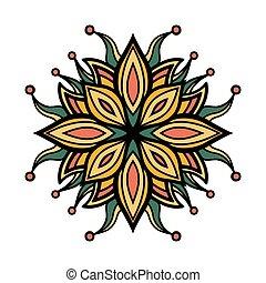 mandala, ornament, plein