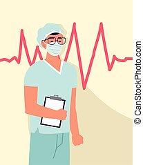 mannelijke , beroep, verpleegkundige