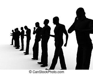mannen, groep, zakelijk