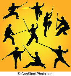 martial arts, maniertjes, groep