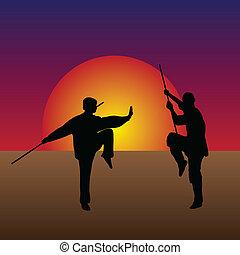 martial arts, schemering