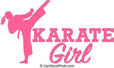 meisje, karate