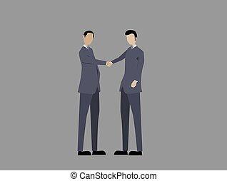 mensen, of, handen, twee, handdruk, zakelijk, schudden